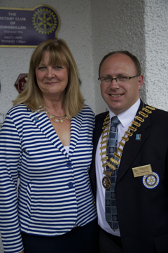 President Roy and Ms Patricia Lindsay