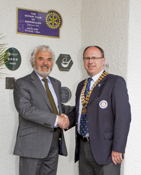 President Roy with Mr Neill Morton