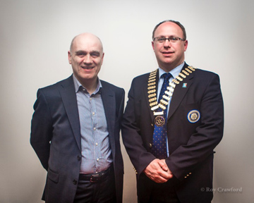 President Roy with Denzil McDaniel