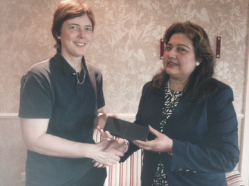 President Elect Angela with Ms Anita Mukhergee