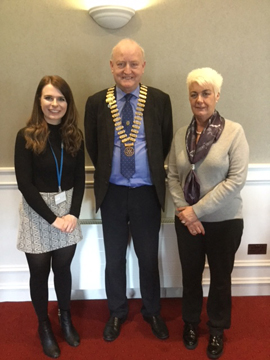 Helen Maguire (Addiction NI), Henry Robinson ( Pres) and Siobhan O'Reilly (Pres Elect)